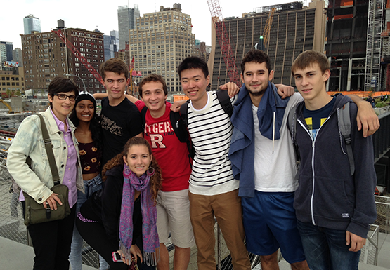 class visits Highline in NY